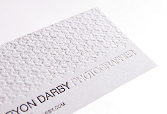 letterpress business cards: Bryon Darby