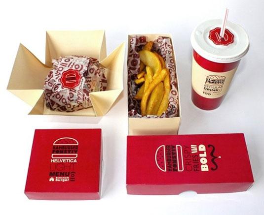 burger typography branding
