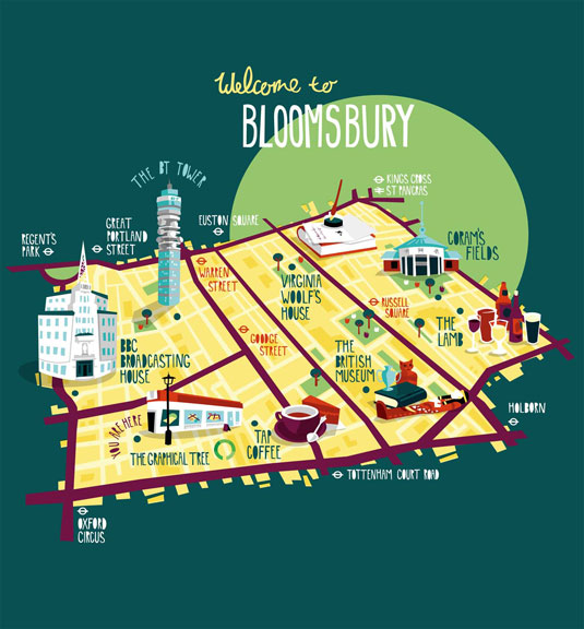 illustrated maps: bloomsbury