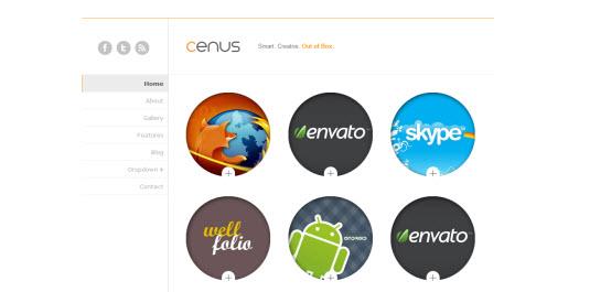 Free Drupal theme: Cenus