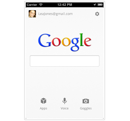 iPhone app designs: Google Search App
