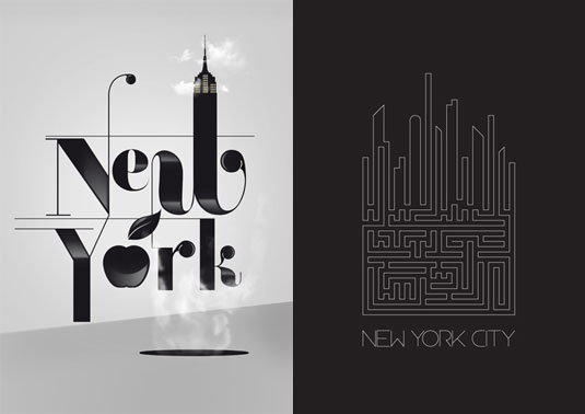 typography city posters
