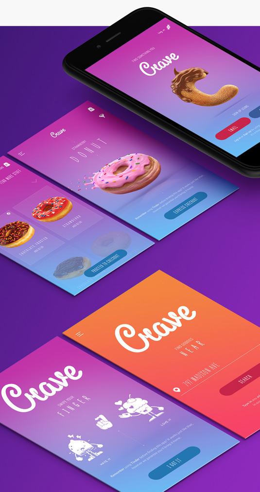 Crave app menus