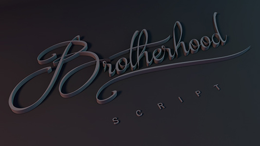 Free font: Brotherhood