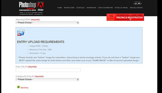 Win a design award: Entry form