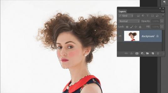 Photoshop CS6: cut out hair 1