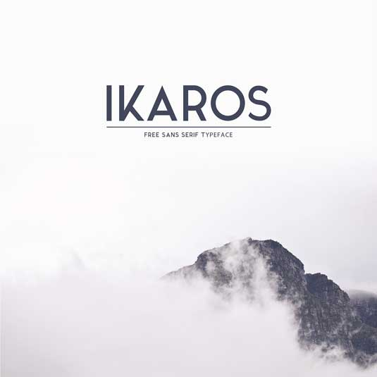 Free font: Ikaros