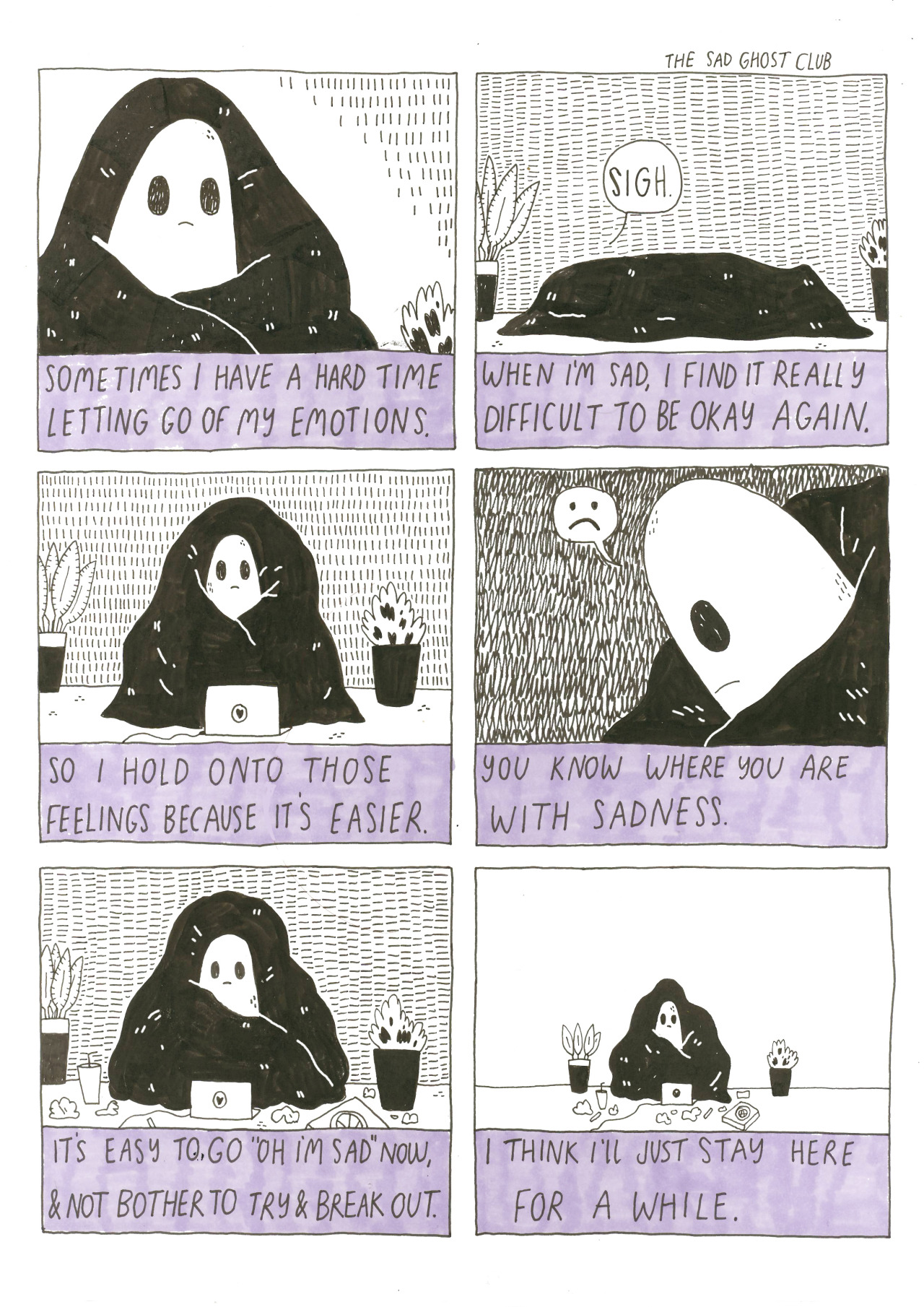imaginative web comics: sad ghost club
