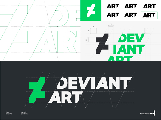 DeviantArt, by Moving Brands