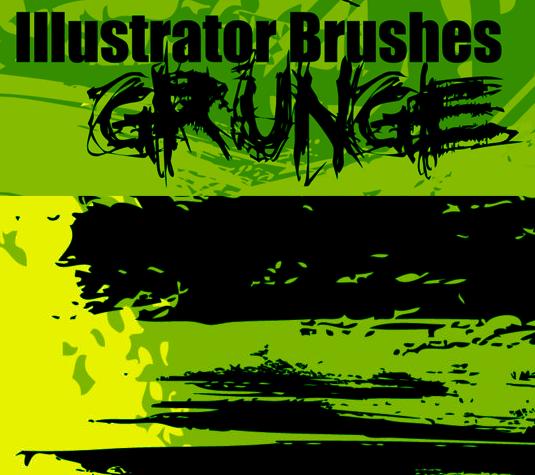 Best Illustrator brushes - Grunge
