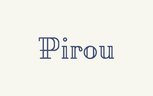 Free font: Pirou