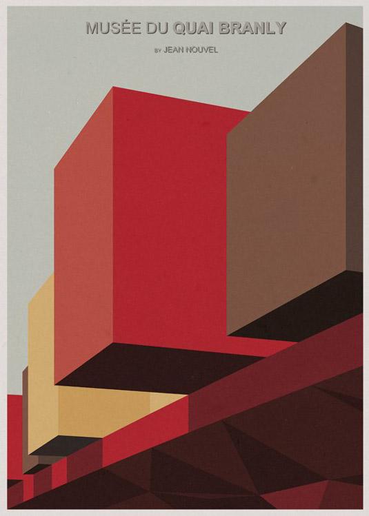 Architecture illustrations - Musee du Quai Branly