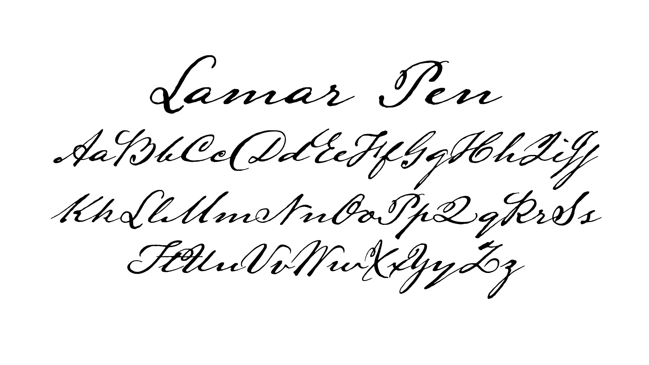 Calligraphy fonts: Lamar Pen