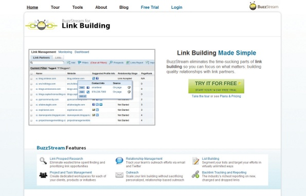 BuzzStream helps you manage your link prospects