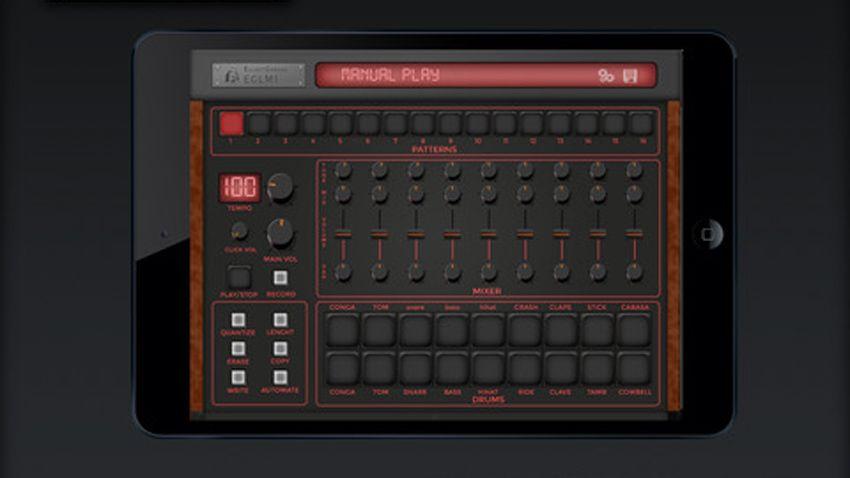 eglm1 drum machine ipad app emulates linn lm 1 musicradar. Black Bedroom Furniture Sets. Home Design Ideas