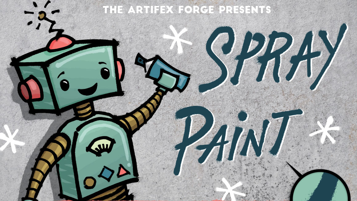 Best graphic design tools for May: Spray Paint brushes