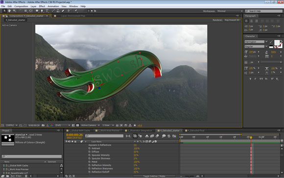 3D Ray Tracing in After Effects CS6