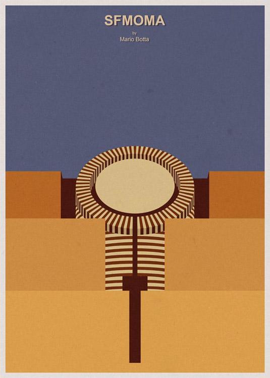 Architecture illustrations - Sfmoma