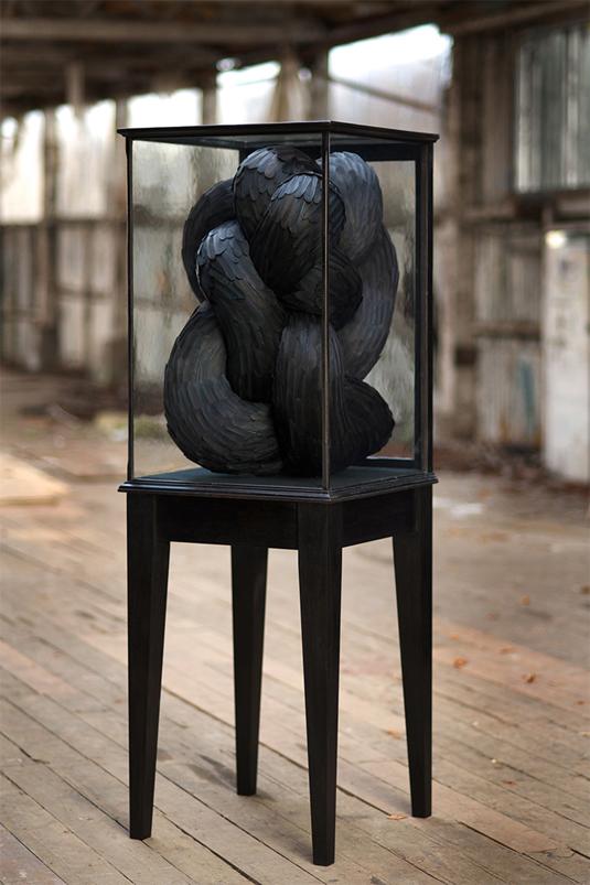 Feather sculptures