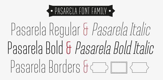 Pasarela font