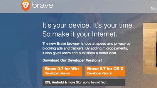 Web design tools: Brave