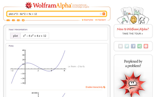 Data visualization: Wolfram Alpha