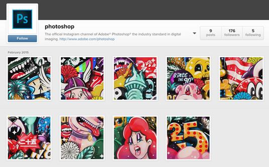 Photoshop's Instagram page