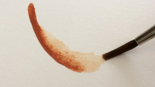 How to paint with gouache: softening edges