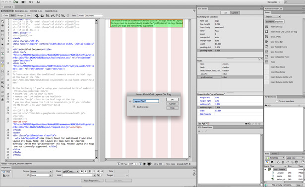 Even with all the bells and whistles Dreamweaver CS6 has a certain poise