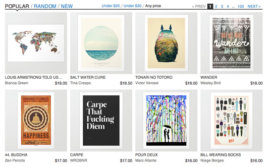Sell design work: Society 6
