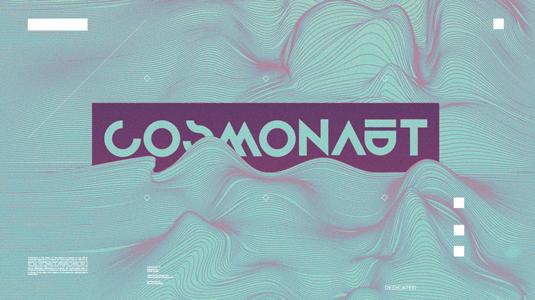 Free font: Cosmonaut