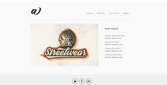 Free font resources: Artimasa