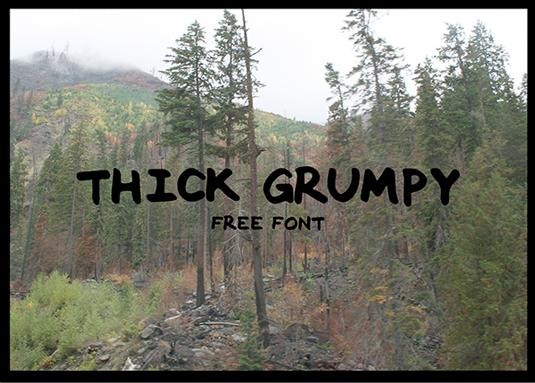 Free font: Thick Grumpy
