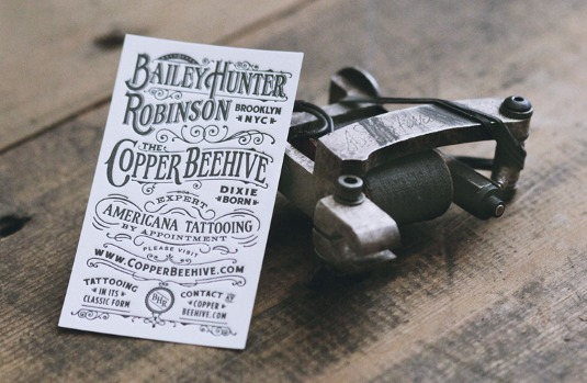 Letterpress business cards: Bailey H Robinson