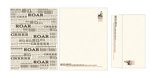 Letterhead designs: Bronx Zoo