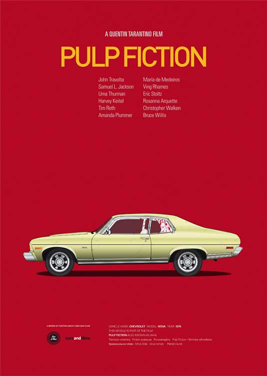 how to design a poster: Pulp Fiction