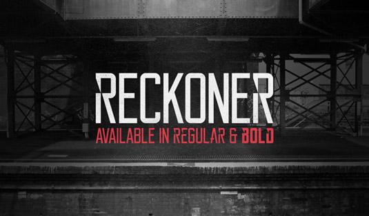 Free font: Reckoner