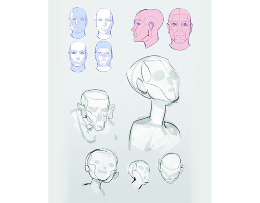 how to draw a face digitally