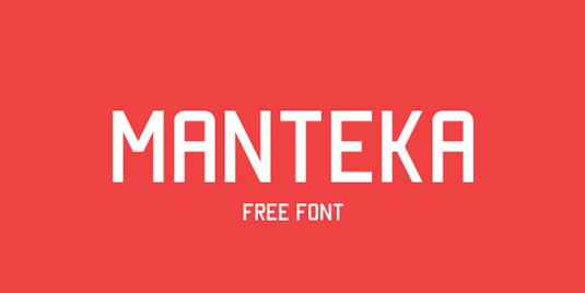 Free font: Manteka