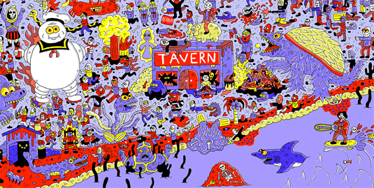 Sam Taylor halloween illustration