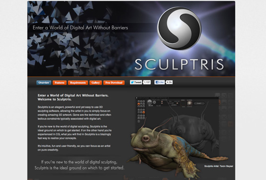 Free graphic design software: Sculptris