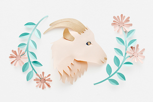 astrology paper art