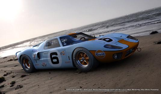 3D art: GT40 in Monte Carlo