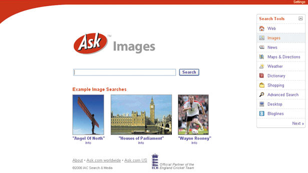 Ask.com image search