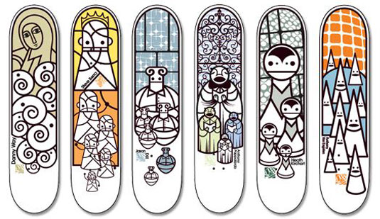 Skateboard designs Ivory series