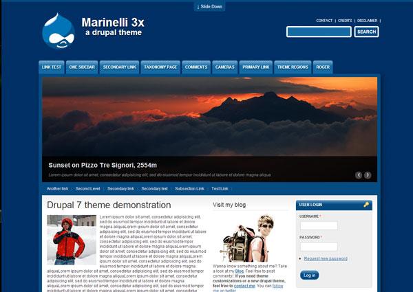 Drupal themes - Marinelli
