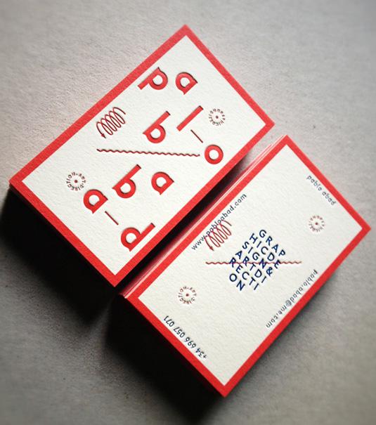 Letterpress business cards: Pablo Abad