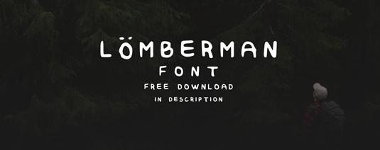 Free font: Lumberman