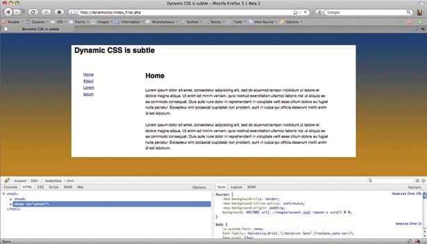 Dynamic CSS
