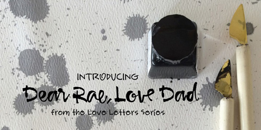 Calligraphy font Dear Rae, Love Dad